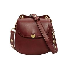 Mayle romy bag: For a departure from your traditional black bag, try one in oxblood leather with simple gold details that's just the right size to wear during festival season.