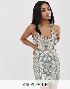Find the best selection of ASOS DESIGN Petite mini dress in moroccan tile embellishment. Shop today with free delivery and returns (Ts&Cs apply) with ASOS! Sequin T Shirt Dress, Pleated Midi Dress, Knit Dress, Maxi Dresses, Party Dresses, Morrocan Dress, Moroccan, Petite Mini Dresses, Asos