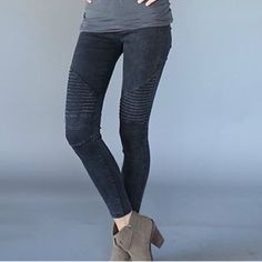 Hot item alert!!  Moto jeggings Beyond comfy and chic with the ankle zipper detail. These legging pants are truly flattering! A fall winter MUST HAVE! Sizes S M L Note: I can possible order more colors, comment if you are looking for a specific color!! Pants