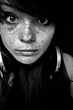 i love freckles...........I do too! I have skin like an Indian and I wanted her freckles so much!
