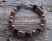 buri beads,glass pearls bracelet 8 inch
