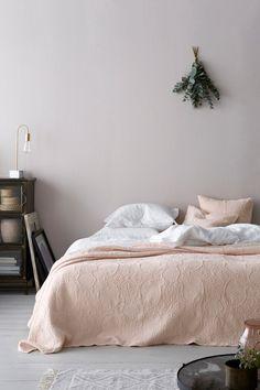 Ellos Home Claudette-päiväpeite jakardikuosista puuvillaa 260x260 cm