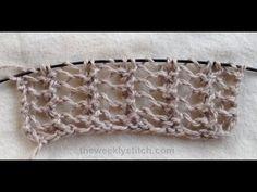 Half Herringbone Lace  Multiple of 3  Row 1: k1, yo, k2tog  Repeat - super simple