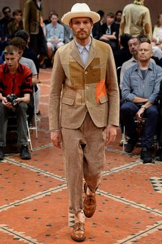 A beautiful patchwork suit by Junya Watanabe Spring 2016 Menswear