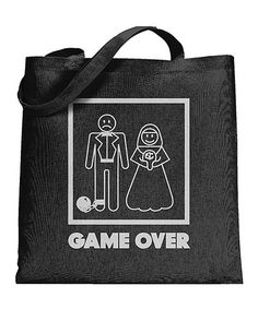 Look what I found on #zulily! 'Game Over' Wedding Tote Bag #zulilyfinds