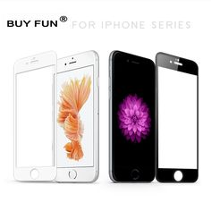 9H Full Cover Tempered Glass Film Case for Apple iPhone 6 6S / 6Plus Screen Protector for iPhone 7 / 7 Plus Black White #Affiliate