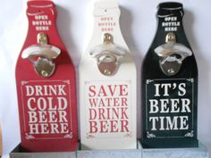 HEADLINES VINTAGE STYLE WALL MOUNTABLE BEER BOTTLE OPENER