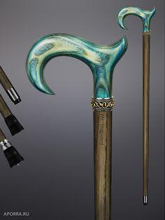 Walking cane - Toulouse Malachite