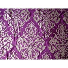 """46"""" Wide Damask Purple Velvet Fabric With Pearl Silver Printing Cracking Effect Technique By the Yard FabricMart http://www.amazon.com/dp/B00G1OHQ6K/ref=cm_sw_r_pi_dp_gB5Mtb0Z668J64BS"""