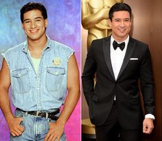 Mario Lopez looks the same and I just lovvveee his dimples.