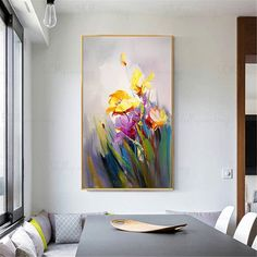 Abstract flower painting wall art picture for living room wall decor hallway bedroom home decor Original yellow acrylic canvas thick texture Abstract flower painting wall art picture for living room wall decor h – thepaintart Black Art Painting, Cow Painting, Painting Abstract, Acrylic Paintings, Acrylic Canvas, Canvas Wall Art, Wall Art Pictures, Abstract Flowers, Abstract Portrait