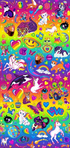 repeat lisa frank pattern i made. took forever! free to use, as usual.