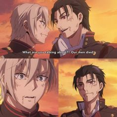 """"""" I love you no matter what, Guren. -squad """" I am slowly dying over here because of them. This episode was heartbreaking! my lovely gureshin.( I'd hope Yu and his friends can save Guren All Anime, Me Me Me Anime, Manga Anime, Anime Art, Male Character, Comedy, Handsome Anime Guys, Hero Wallpaper, Dark Thoughts"""