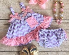 Lavender/pink chevron Swing Top by PocketfullofGrace on Etsy