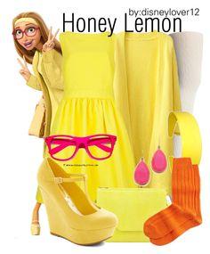 """Honey Lemon- Big Hero 6"" by disneylover12 ❤ liked on Polyvore featuring Lauren Ralph Lauren, Ted Baker, Eric Javits, Neiman Marcus, Kate Spade, disney, disneybound, newmovie, BigHero6 and honeylemon"