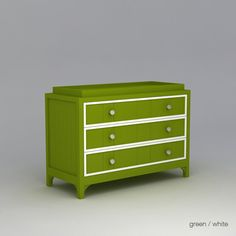ducduc Stonington 3 Drawer Changer Accent Finish: White, Finish: Green Ston3DC-Fn-GR-AC-W, #ducduc_Ston3DC-Fn-GR-AC-W