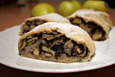 Jablkovo-makový závin Strudel, Brownies, Tacos, Cookies, Ethnic Recipes, Food, Basket, Cake Brownies, Crack Crackers