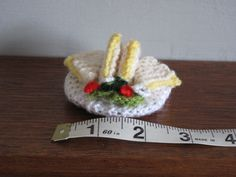 Mini Knitted Sandwich with side salad