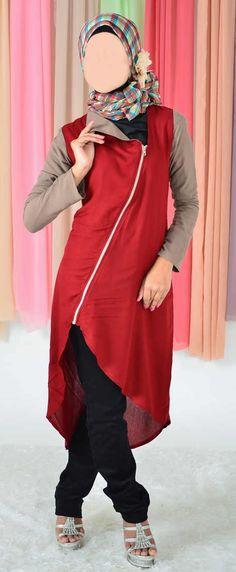 Blus Muslimah Vannara Merah - 283 - www.pernikmuslim.com aneka baju busana  muslim cf9de0cbc7
