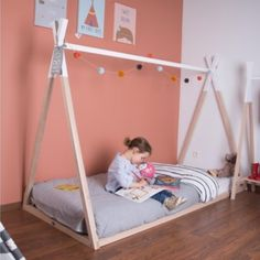 Guess what's live?! Our tipi beds!! They're available on pre-order and stocks are LIMITED so if you want one then you need to get in quick They are a bargain and come in single and toddler size. Perfect for the little adventurer in your life You can accessorise with bunting and lights and it will make your little one's bedroom SO fun! If you're not sold on the idea of a floor bed then check out our blog all about why they are BRILLIANT! . #minimaisonuk #adventureawaits #kidsdecor