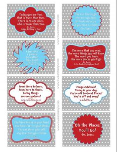 Dr. Suess Lunchbox Notes