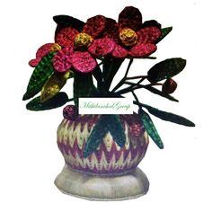 Radha Sikki Artwork of Flower Vase - MithilanchalGroup