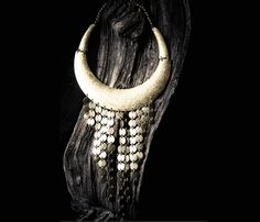 Brass Coin Fringed Collar