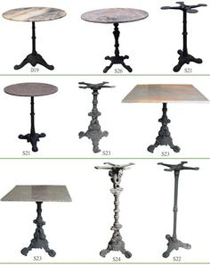 Cast Iron Table ~ Examples Of Table Base At The End Of The Kitchen Island