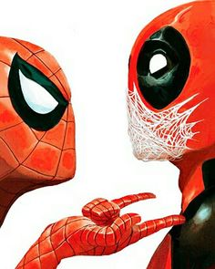 Unknown Artist #Deadpool #Spiderman #Marvel
