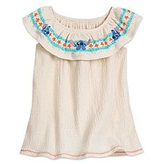 Stitch Top for Girls | Disney Store A trio of Stitches decorate the colorful collar that circles the shoulders of this summery top for girls. The soft and stretchy crepe-like fabric and stylish sleeveless design will make this a summertime favorite.
