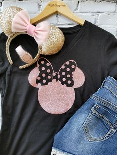Disney Shirts/Disney Ears/Glitter Rose Gold Minnie Shirt/Disney Shirts for Women/Disney Family Shirts/Minnie Mouse Ears/rose gold, charcoal - The Trend Disney Cartoon 2019 Disney World Shirts, Disney Tees, Disney Shirts For Family, Disney Diy, Cute Disney, Disney Shirt For Women, Disneyland Family Shirts, Disneyland Vacation, Disney Cruise