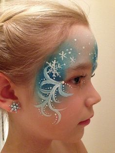 Elsa face paint | Eiskönigin Kinderschminken