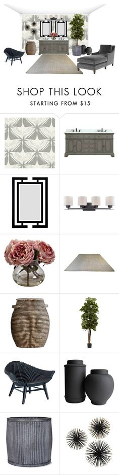 """""""Neutrality Rules"""" by ashypoo16 ❤ liked on Polyvore featuring interior, interiors, interior design, home, home decor, interior decorating, Tempaper, Azzuri, Nearly Natural and House Doctor"""