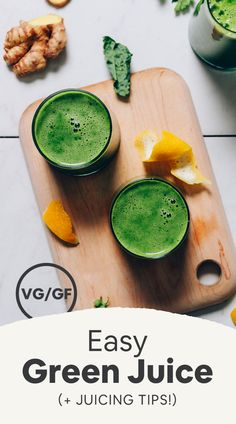 EASY Green Juice! 7 ingredients, tart-sweet, PACKED with greens! #plantbased #glutenfree #minimalistbaker #juice #greenjuice #recipe Sweet Greens Juice Recipe, Easy Green Juice Recipe, Green Juice Recipes, Greens Recipe, Juice Smoothie, Smoothie Recipes, Drink Recipes, Vitamix Recipes, Jelly Recipes