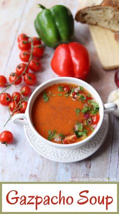 This classic Gazpacho is a wonderfully refreshing chilled summer soup which is full of flavour and requires no cooking!  #gazpacho #summersoup #chilledsoup #spanishrecipe Side Dish Recipes, Easy Dinner Recipes, Delicious Recipes, Beef Recipes, Soup Recipes, Cajun Recipes, Healthy Summer Recipes, Healthy Soups, Lobster Bisque Soup