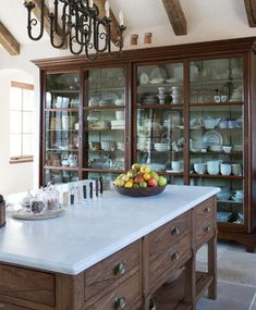 😍😍Love that large cupboard😍😍 This China Cabinet is an 11 foot antique hutch became an integral piece Kitchen TraditionalNeoclassical by Sarah Blank Design Studio Kitchen Interior, Beautiful Kitchens, Kitchen Remodel, Kitchen Decor, New Kitchen, Kitchen Dining Room, Kitchen Dining, Home Kitchens, Kitchen Design