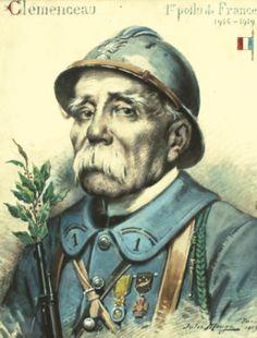 « Clemenceau, 1er poilu de France ». Collection famille Wormser.