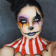 This carnival makeup is pretty freaky.                                                                                                                                                                                 More