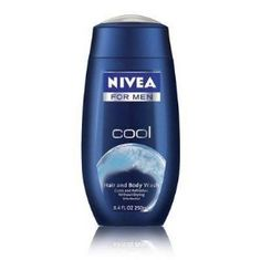 Nivea for Men Body Wash, Cool, 8.4 oz by Nivea. $5.49. Nivea for Men Body Wash is leaving you with a fresh feeling and energized.. It feel fresh and cool with new cool body wash from Nivea from Men.. The senses while the cooling blue gel with menthol cleans and invigorates your skin, leaving you with a fresh feeling.. With MentholBody Wash Cools and Invigorates - Feel fresh and cool with New Cool Body Wash from Nivea from Men. The refreshing scent stimulates the senses while th...