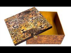 Artesanato Como Fazer Efeito Couro em Caixa de MDF + Decoupage Com Guardanapo - YouTube