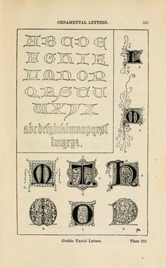 A handbook of ornament; ornamental letters gothic letters pg533