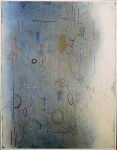 Emmi Whitehorse, M.O.O.N. #1410 2006, mixed media on paper on canvas