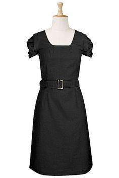 Belted cotton dress. #eShakti