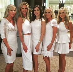 Vicki Gunvalson's White Lace Dress at Tamra's Baptism | http://www.bigblondehair.com/real-housewives/rhoc/vicki-gunvalsons-white-lace-dress-at-tamras-baptism/ MK Collab
