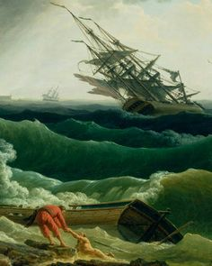 A Storm in a Mediterranean Coast. Claude-Joseph Vernet. 1714-1789. #art…