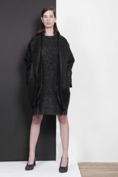 ARMANDO TAKEDA 2015-16AW LOOK25 #blackcoat #dress