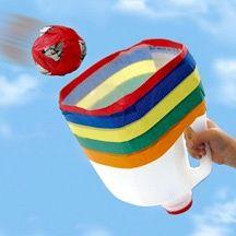 ball catcher made from plastic milk jug