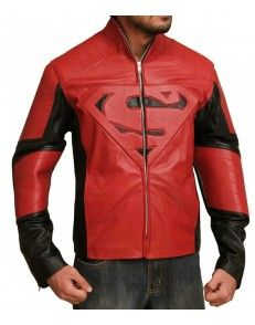 Superman SmallVille Red and Black Leather Jacket #celebrityleatherjacket  http://www.styloleather.com