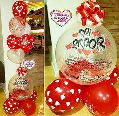 Letter Balloons, Ideas Para Fiestas, Balloon Bouquet, Gift Store, Christmas Bulbs, Picnic, Happy Birthday, Lettering, Holiday Decor