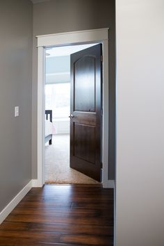 40+ Marvelous White Trim With Stained Door Ideas & Dark wood Interior Door with white moulding. I am going to go with ...